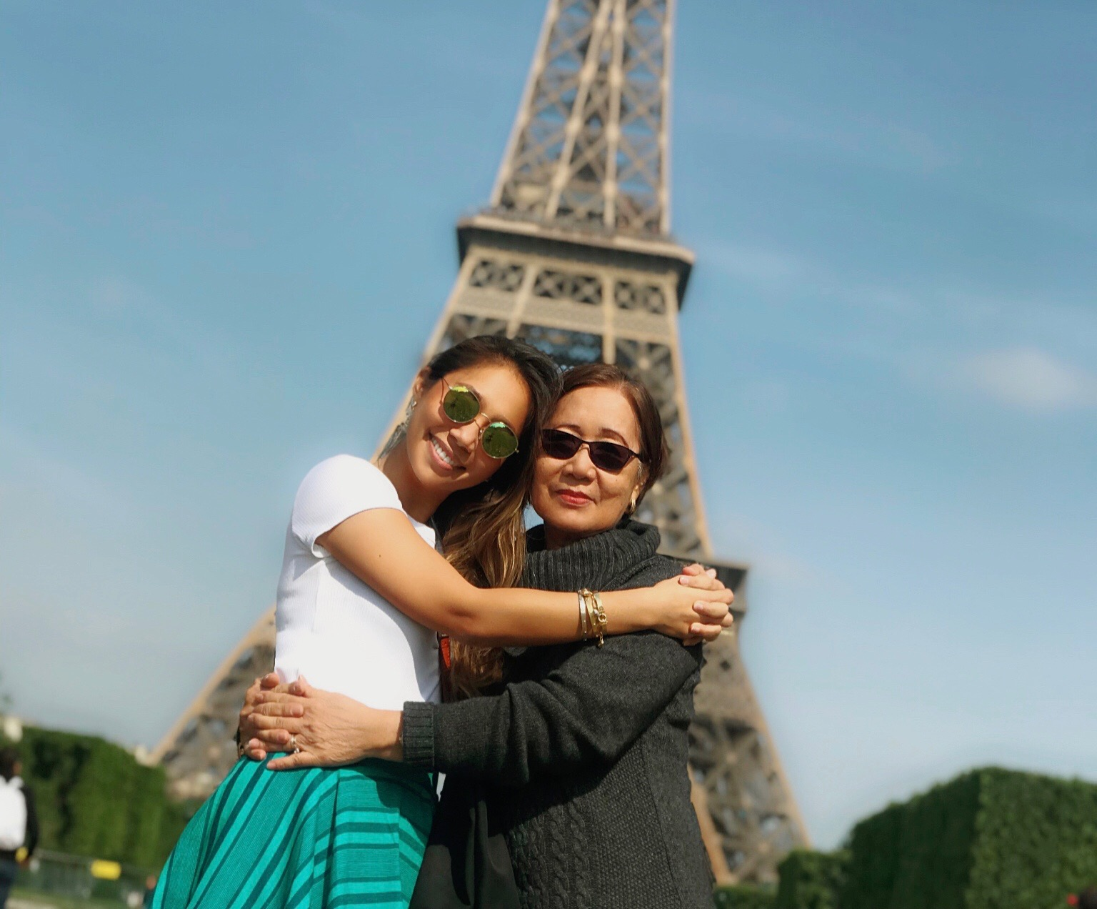 Cathy with her mother, Josephine Tayarani Daghigh at Paris, France | 2018