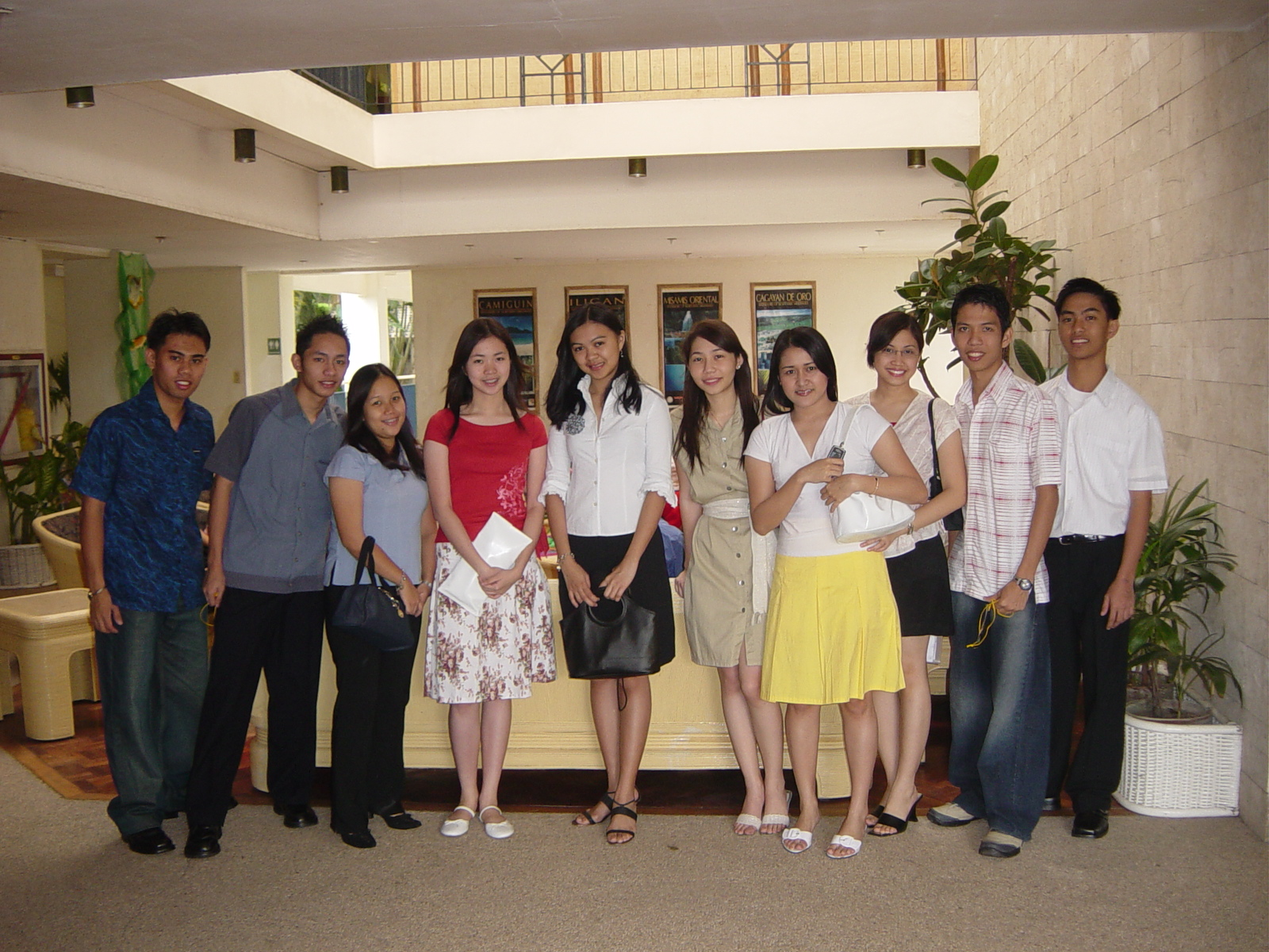 Cathy with other delegates from Ateneo de Davao University at the 2005 1st MBMYC (Mindanao Business Youth Congress) hosted by Xavier University at Cagayan de Oro City | 2005
