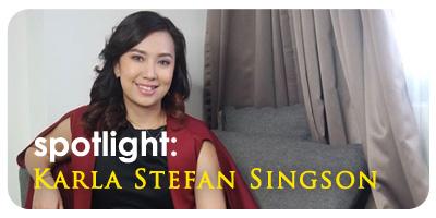 Spotlight: Karla Stefan Singson
