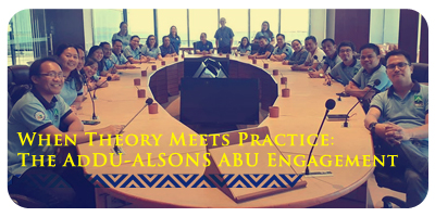 When Theory Meets Practice: The AdDU-ALSONS ABU Engagement